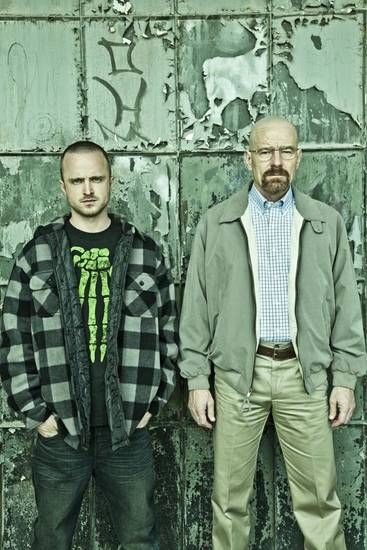 Jesse Pinkman (Aaron Paul) and Walter White (Bryan Cranston) - Breaking Bad _Season 5 - Photo Credit: Frank Ockenfels/AMC