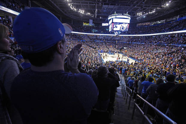 FANS / CROWD / OVERVIEW: Basketball returns for the season opener as the Oklahoma City Thunder play the Orlando Magic in NBA basketball at the Chesapeake Energy Arena on Sunday, Dec. 25, 2011, in Oklahoma City, Okla.  Photo by Steve Sisney, The Oklahoman