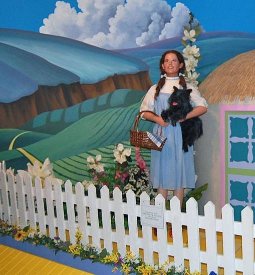 A life-size figure of Dorothy from the Oz Museum in Wamego, Kansas. Photo by Annette Price, for The Oklahoman. <strong></strong>