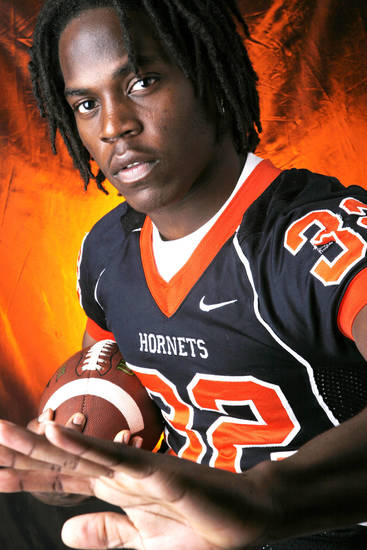 Tulsa Washington High School&#039;s Michael Harris All State Halfback. 