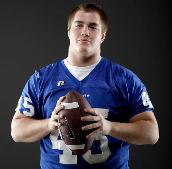 HIGH SCHOOL FOOTBALL: All-State football player Landry Chappell, of Guthrie, poses for a photo in Oklahoma CIty, Wednesday, Dec. 14, 2011. Photo by Bryan Terry, The Oklahoman