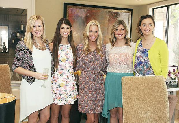 Brooke Sanderson, Allie Coury, Kellie Hefner, Brittany Decker, Katie Brown. PHOTO BY DAVID FAYTINGER, FOR THE OKLAHOMAN