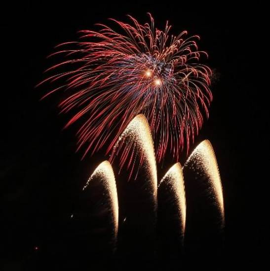 Fireworks show concluding LibertyFest at UCO Monday, July 4, 2011. Photo by Doug Hoke, The Oklahoman Archives