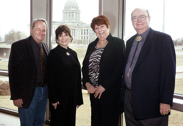 Paul Austin, Rilla Askew, Mary Robinson, Bill Wiggins.  PHOTO BY DAVID FAYTINGER, FOR THE OKLAHOMAN