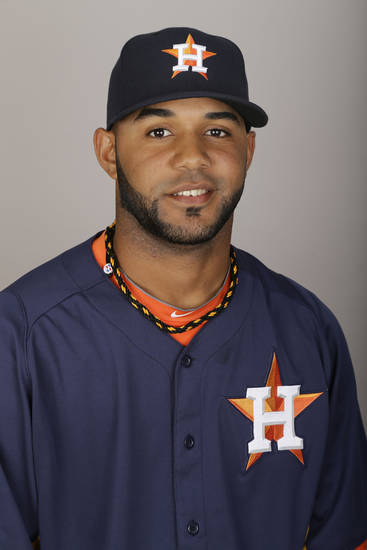 MAJOR LEAGUE BASEBALL: This is a 2013 photo of Jonathan Villar of the Houston Astros baseball team. This image reflects the Astros active roster as of Thursday, Feb. 21, 2013, when this image was taken. (AP Photo/David J. Phillip) ORG XMIT: FLDP1