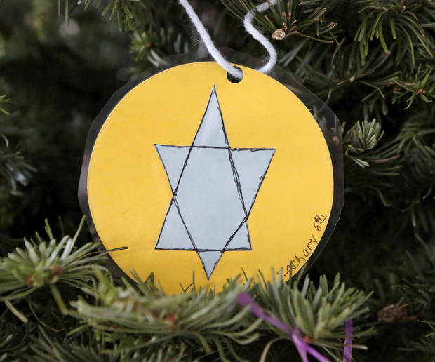 Above: A Star of David ornament hanging on the Jesse Tree at St. James the Greater Catholic represents King David.