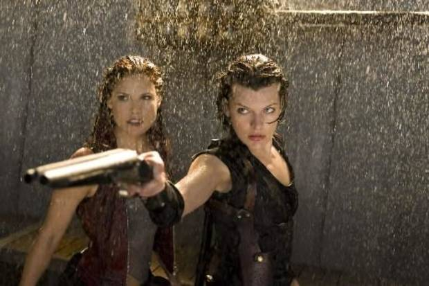 "Ali Larter and Milla Jovovich in ""Resident Evil: Afterlife."""