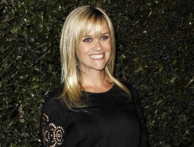 "In this April 13, 2012 file photo, actress Reese Witherspoon arrives at the world premiere of the music video for Paul McCartney's song, ""My Valentine."" Witherspoon's mother has filed a petition of annulment to wipe out her husband's recent second marriage. Mary Elizabeth Witherspoon says in court documents filed May 8 in Nashville that her husband John Drake Witherspoon has taken a second wife who may be taking advantage of his mental condition. (AP Photo/Matt Sayles, file)"