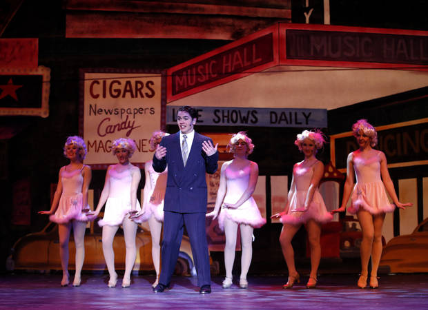"Students take part in a Tuesday dress rehearsal for ""Crazy for You"" at Edmond North High School. Photo by Sarah Phipps, The Oklahoman <strong>SARAH PHIPPS - THE OKLAHOMAN</strong>"