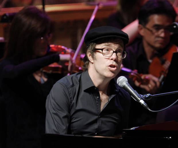 MUSICIAN: Ben Folds performs with the Oklahoma City Philharmonic at Civic Center Music Hall on Thursday, Nov. 3, 2011. Photo by Bryan Terry, The Oklahoman ORG XMIT: KOD