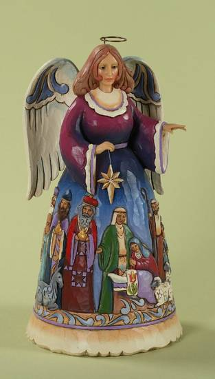 A Jim Shore angel figurine.
