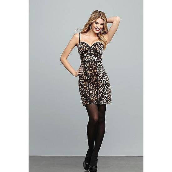 Sofia by Sofia Vergara animal print bustier dress available at Kmart for $44.99.