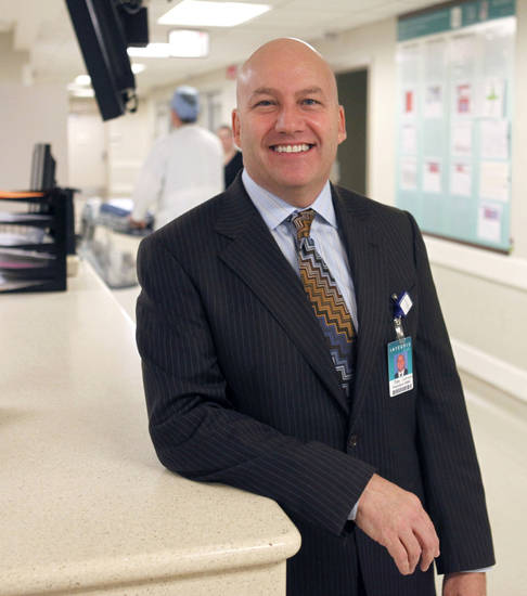 Tim Johnsen is the new president of Integris Baptist Medical Center. Photo by Paul Hellstern <strong>PAUL HELLSTERN</strong>