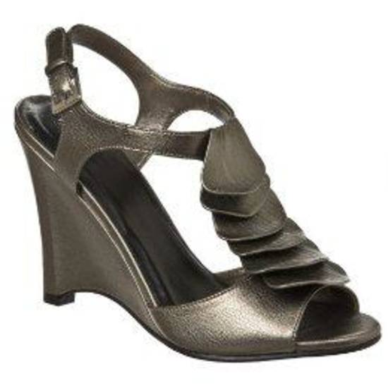 Mossimo ruffle wedge sandal from Target.