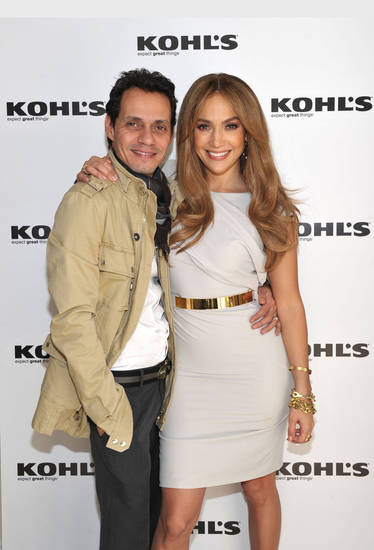WEST HOLLYWOOD, CA - NOVEMBER 18:   Singer Marc Anthony and singeractress Jennifer Lopez at their announcement to Launch Two Exclusive Lifestyle Brands at Kohl��s Department Stores at The London Hotel on November 18, 2010 in West Hollywood, California.  (Photo by John Shearer/WireImage)