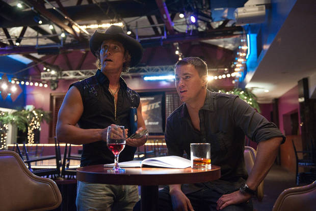 "Matthew McConaughey and Channing Tatum star in ""Magic Mike."" <strong>Claudette Barius</strong>"
