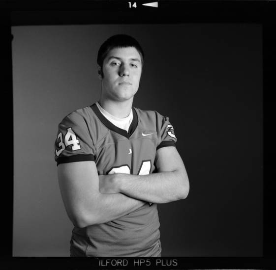 All-State high school football player Dalton Rodriguez of Tulsa Union poses for a photo in Oklahoma City,  Monday, Dec. 17, 2012. Photo by Nate Billings, The Oklahoman