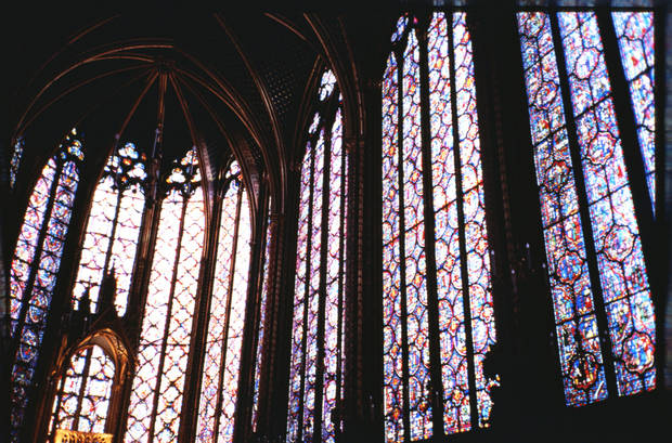 Paris, France - Stained Glass from Inside