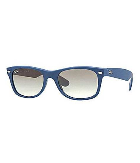 Ray-Ban Wayfarer in blue, $130, at Dillard's.