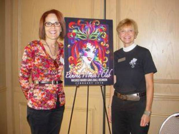 Dr. Maria Trapp-Braly, Mardi Gras Ball chairman, and Diane Baird Doeksen, vice president, Fund Raising Council for the Edmond Women's Club. (Photo provided).