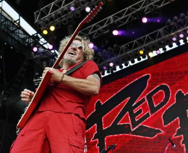 Sammy Hagar performs during the Oklahoma Twister Relief Concert, benefiting victims of the May tornadoes, at Gaylord Family - Oklahoma Memorial Stadium on the campus of the University of Oklahoma in Norman, Okla., Saturday, July 6, 2013. Photo by Nate Billings, The Oklahoman