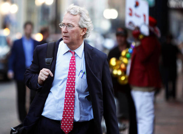 Chesapeake Energy Corp. CEO Aubrey McClendon walks through the French Quarter in New Orleans, Louisiana in this March 26, 2012, file photo. REUTERS/Sean Gardner    <strong></strong>