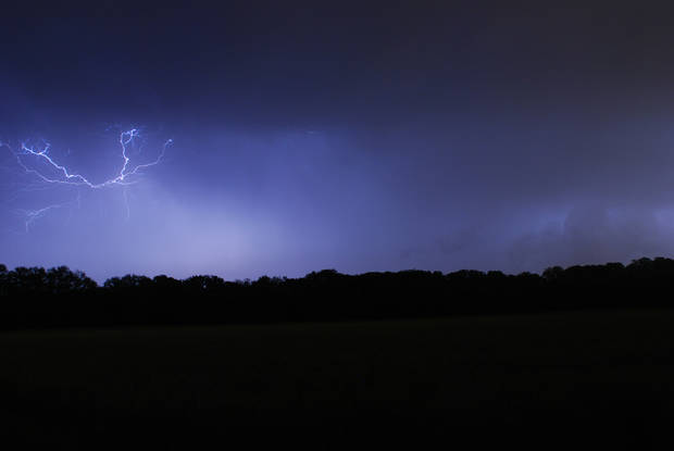 Lightning in Edmond, OK