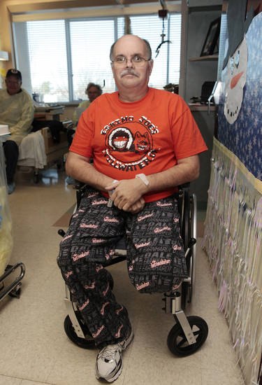 Kendall Hill, who lost part of a leg after a Scouting accident but hopes to be home for Christmas, in his room at Jim Thorpe Rehabilitation Center on south Western, Wednesday, December 21 , 2011. Photo by David McDaniel, The Oklahoman  ORG XMIT: KOD