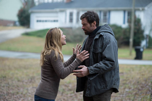"Maria Bello and Hugh Jackman star in ""Prisoners.""  <strong>Wilson Webb</strong>"