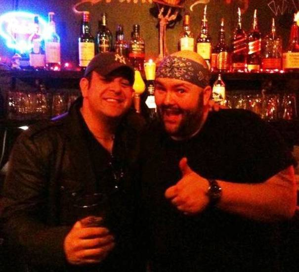 """Man v. Food"" host Adam Richman with Drunken Fry general manager Ian McDermid."