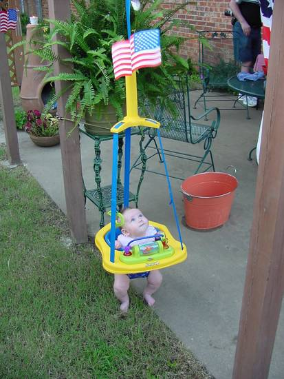 Malerie Hawk's first 4th of July<br/><b>Community Photo By:</b> Meredith Hawk<br/><b>Submitted By:</b> John, Midwest City