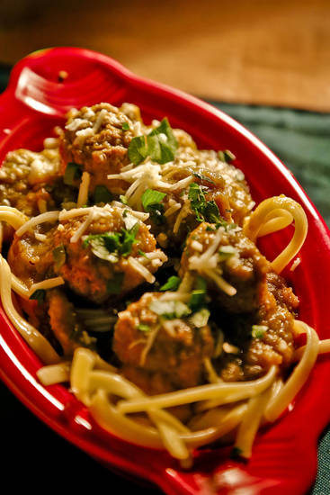 Green chile meatballs. Photo by Chris Landsberger, The Oklahoman <strong>CHRIS LANDSBERGER</strong>