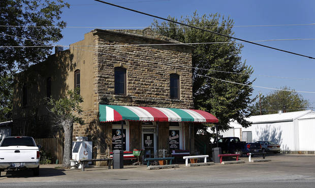 BUILDING EXTERIOR: Lovera's  Italian grocery in Krebs, Oklahoma on Thursday, Oct. 4, 2012.   Photo by Jim Beckel, The Oklahoman.