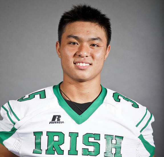 Bishop McGuinness senior linebacker Brandon Nguyen wants another shot at Clinton.