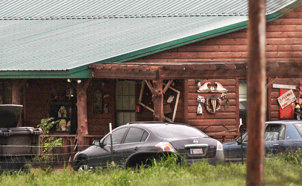 The house on SH 9A about eight miles north of Konowa where partygoers overdosed on 2C-E,  a designer drug similar to ecstacy, sending several people to the hospital and killing one girl.  Tuesday,  May 11,  2011, Photo by Jim Beckel, The Oklahoman