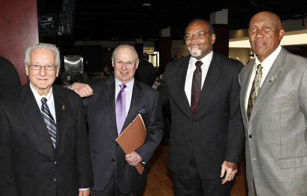2012 Oklahoma Sports Hall of Fame inductees Lynne Draper, Pat Jones, Dewey Selmon and Ferguson Jenkins, Tuesday, March 19, 2012.  Photo By David McDaniel/The Oklahoman
