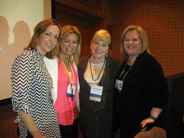 Pictured, from left, are Adrienne Kallweit, Shannon Wilburn, Linda Haneborg and Kim Carns.  Photo by Paula Burkes, The Oklahoman