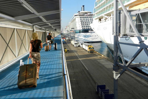 While some passengers insist on bringing several heavy bags, it's best to go light when packing for a cruise. (Photo by Rick Steves)