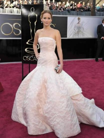 Jennifer Lawrence arrives at the Oscars. (AP)