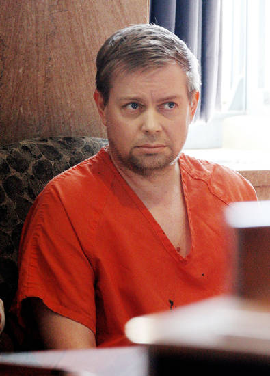 Christopher Arthur Durham sits Friday during his bail hearing at the Oklahoma Count Courthouse in Oklahoma City. Photo by Paul B. Southerland,  The Oklahoman