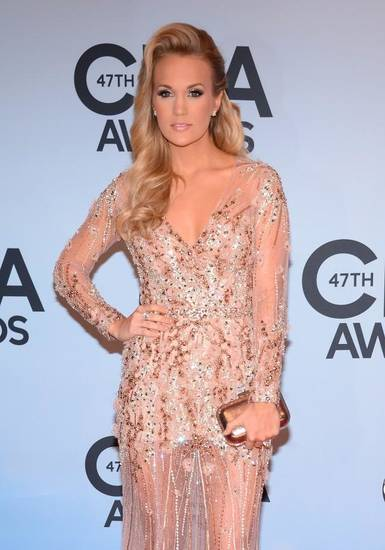 Carrie Underwood on the red carpet at the CMA Awards.