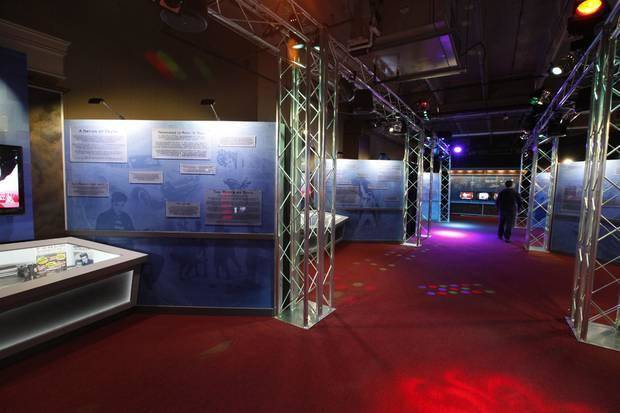 "Fans can trace the development of modern music through the bands and technology of the different decades as part of the new traveling exhibit ""The Science of Rock 'n' Roll"" at Science Museum Oklahoma. Photo by Paul Hellstern, The Oklahoman"