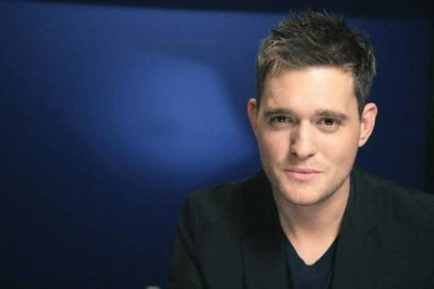 Michael Buble during a photo shoot in New York (AP Photo by Jeff Christensen)