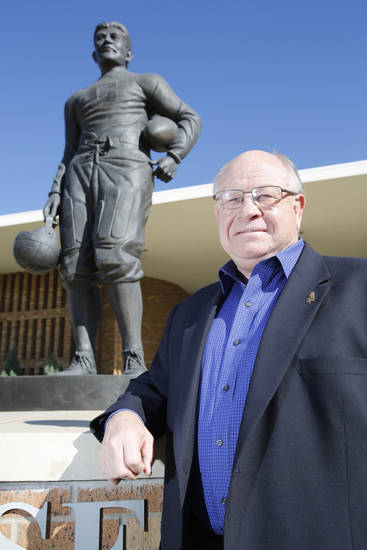 Eddie Griffin, the executive director of the Jim Thorpe Association, had a successful career as a wrestler and coach before becoming athletic director at Oklahoma City Public Schools and Northeastern State.  Photo By Steve Gooch, The Oklahoman