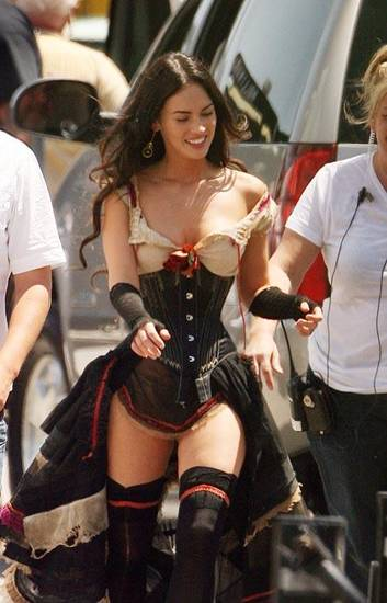 April 23, 2009: Megan Fox prepares to shoot scenes for the new movie 'Jonah Hex', the western which also stars Josh Brolin currently filming in Louisiana. Credit: Leigh Green/INFphoto.com  Ref.: infusno-01