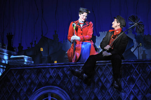 "Rachel Wallace and Case Dillard star as Mary Poppins and Bert in the musical ""Mary Poppins.""    Photo by Deen Van Meer  <strong>Deen van Meer</strong>"