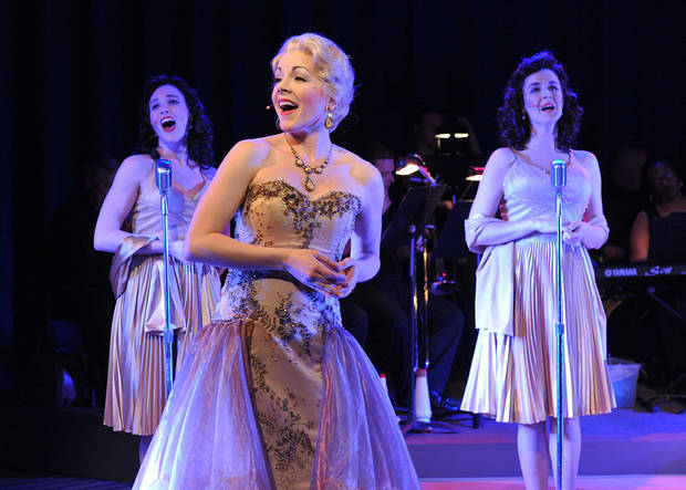 "Jenny Rottmayer, Lindsie VanWinkle and Kassie Carroll star in ""Flipside: The Patti Page Story.""   Photo by Wendy Mutz  <strong>WENDYMUTZ</strong>"