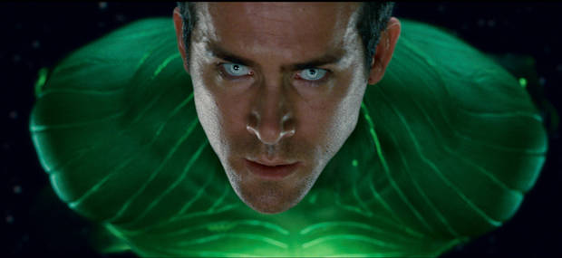 "GL-0445  RYAN REYNOLDS as Green Lantern in Warner Bros. Pictures' action adventure ""GREEN LANTERN,"" a Warner Bros. Pictures release."