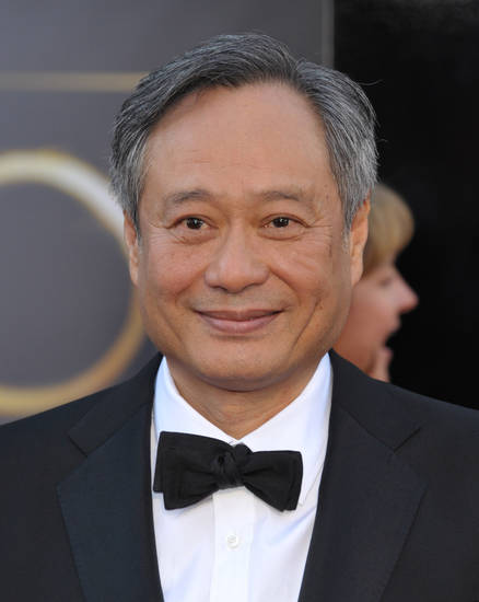 Director Ang Lee arrives at the Oscars at the Dolby Theatre on Sunday Feb. 24, 2013, in Los Angeles. (Photo by John Shearer/Invision/AP)