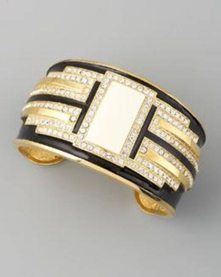Rachel Zoe Deco crystal cuff, $495, available at Neiman Marcus.